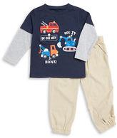 Kids Headquarters Boys 2-7 Vehicle Shirt and Pants Set