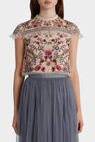 Needle & Thread Floral Jet Top