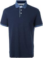 Hackett contrast collar polo shirt - men - Cotton/Spandex/Elastane - S