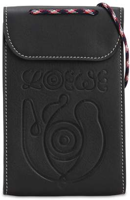 Loewe EYE NATURE LEATHER NECK POUCH