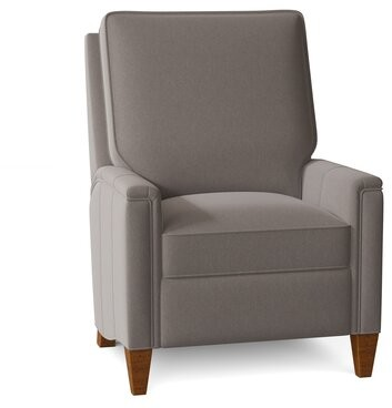 """Thumbnail for your product : Bradington-Young Davidson 30.5"""" Wide Power Standard Recliner Body Fabric: Flint Nature, Leg Color: New Classiques, Nailhead Detail: French Natural"""