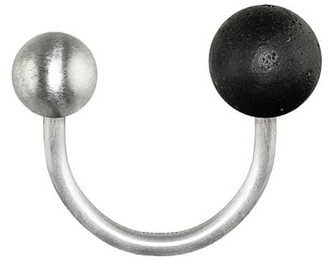 Gravelli Twins Open Ring Stainless Steel & Concrete Anthracite