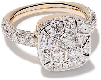 Pomellato 18kt rose and white gold Nudo diamond ring