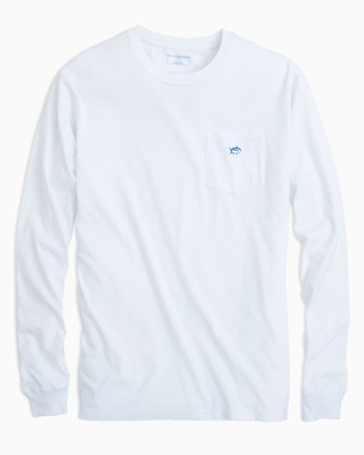 Southern Tide Long Sleeve Embroidered Pocket T-Shirt