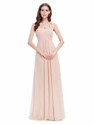 Ever Pretty Ever-Pretty Women's Floor Length One Shuolder Empire Waist A Line Chiffon Bridesmaid Dresses Dark Purple 14UK