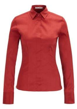 BOSS Slim-fit blouse with darted seam detail