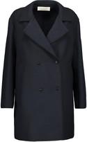 Nina Ricci Silk-trimmed wool-blend coat