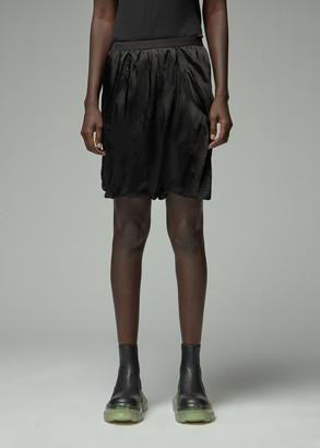Rick Owens Women's Bias Buds Brief Short in Black Size 44 100% Cupro