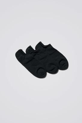 Weekday Lol Ankle Socks - Black