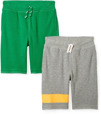Spotted Zebra Boys' Kid 2-Pack French Terry Knit Shorts