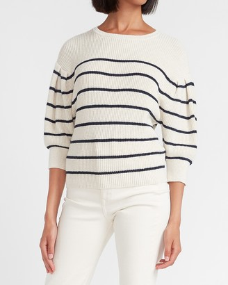 Express Ribbed Puff Sleeve Sweater