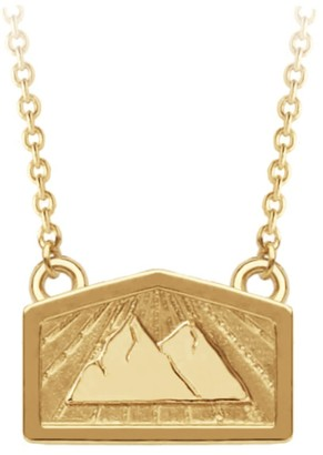 A World Entire Peace & Strength - Mountain Mini Wish Necklace In 18Ct Yellow Gold