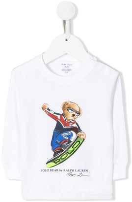 Ralph Lauren Kids teddy bear long-sleeved T-shirt