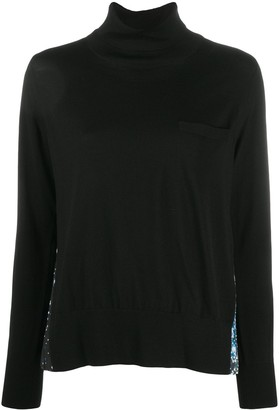 Sacai Contrasting Pleated Back Jumper