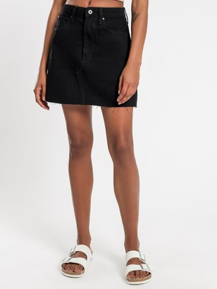 Articles of Society Jaynee Denim Skirt in Blackout