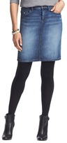 LOFT Petite Straight Five Pocket Denim Skirt in Alcove Blue Wash