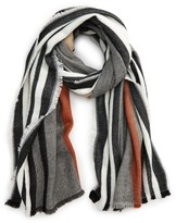 BP Women's Multi Color Stripe Oblong Scarf