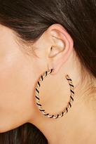 Forever 21 FOREVER 21+ Twisted Hoop Earrings