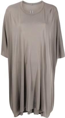 Rick Owens Silk-Blend Loose Fit Draped T-Shirt
