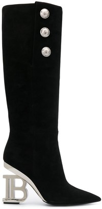 Balmain Nelly over-the-knee boots