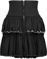 Isabel Marant Roscoe embellished cotton-voile mini skirt