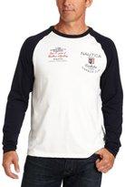 Nautica Men's Big-Tall Color Block Raglan T-Shirt
