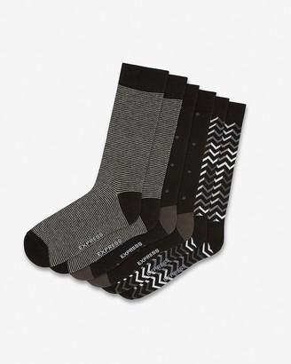 Express 3 Pack Black Mixed Print Dress Socks