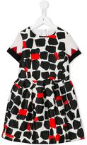 Simonetta squares printed dress - kids - Polyester/Acetate/Cupro/Wool - 4 yrs