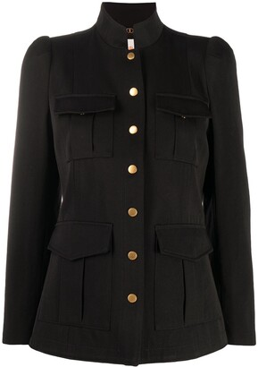Tory Burch Long-Sleeved Structured Military Jacket