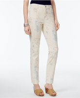 Style&Co. Style & Co Petite Printed Slim-Leg Jeans, Only at Macy's