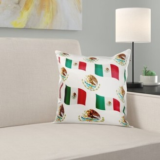 East Urban Home The Flag of Mexico and Coat of Arms on a Background United Mexican States Pillow Cover
