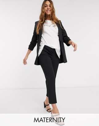 ASOS DESIGN Maternity mix & match tailored cigarette suit trousers with over bump band