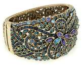 """Heidi Daus Couture in Bloom"""" Hinged Crystal-Accented Bangle Bracelet"""