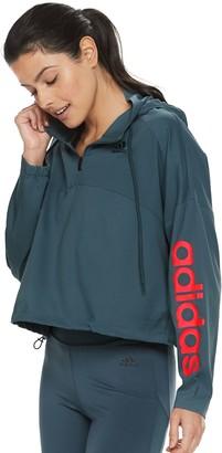 adidas Women's Activated Tech Crop Windbreaker Jacket