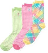 Ralph Lauren Patterned Trouser Sock 3-Pack