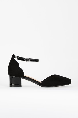 Wallis Black Ankle Strap Heel Shoe