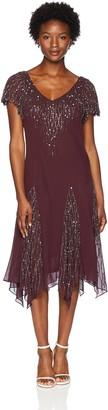 J Kara Women's Petite Short Beaded Dress