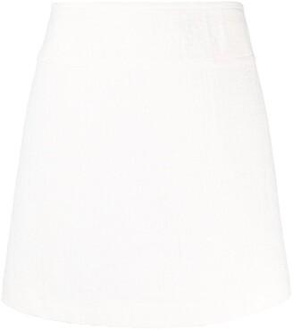 A.P.C. crease-effect A-line skirt