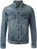 Saint Laurent distressed denim jacket - men - Cotton - L