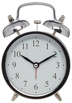 George Home Silver Double Bell Alarm Clock