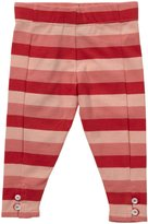 Little Green Radicals Button Leggings (Baby) - Summer Berry Stripes-6-9 Months