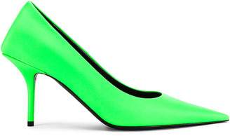 Balenciaga Square Knife Pumps in Fluo Green | FWRD