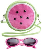 Girls 4-16 Watermelon Crossbody Bag & Sunglasses Set