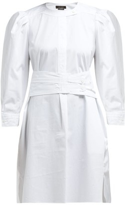 Isabel Marant Galaxy Belted Cotton Shirt Dress - Womens - White