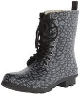 Chooka Women's Combat Leopard Rain Boot