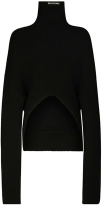 Balenciaga Oversize Wool Knit Turtleneck Sweater
