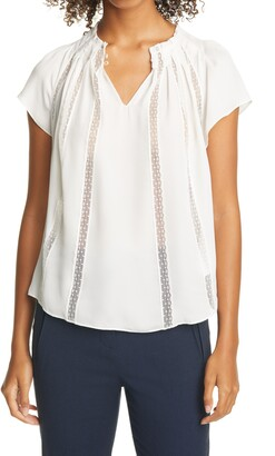 Tailored by Rebecca Taylor Silk & Lace Top