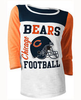 5th & Ocean Women's Chicago Bears Three-Quarter Glitter T-Shirt