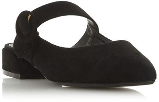 Dune London Donnor Round Buckle Flat Mules
