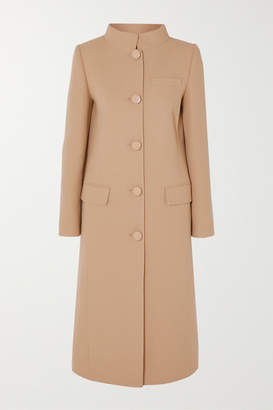 Givenchy Wool-crepe Coat - Brown